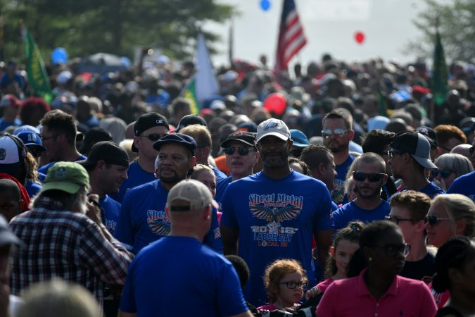 Annual Labor Day Parade on Columbus Boulevard, on Monday. (Bastiaan Slabbers for WHYY)