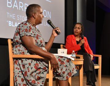 WHYY reporter Annette John-Hall interviews Deborah Plant, editor of