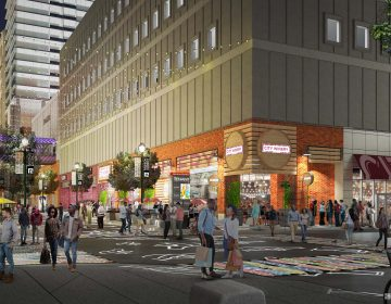 An artist's rendering shows the City Winery exterior in the new Fashion District. (JPRA Architects)