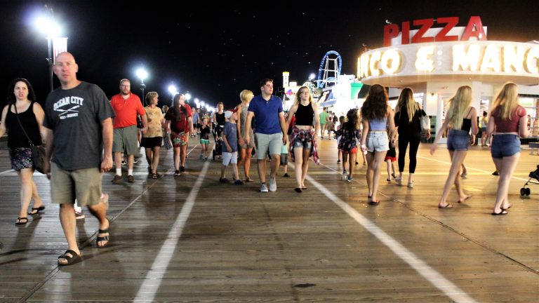 The boardwalk in Ocean City, N.J.