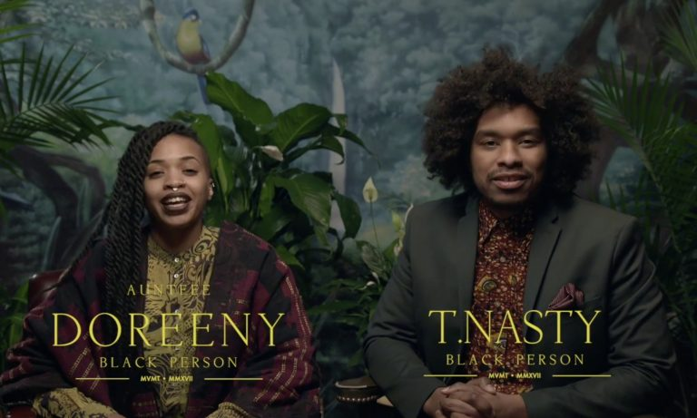 Doreen Garner and Terence Nance host a segment of Nance's new HBO show,