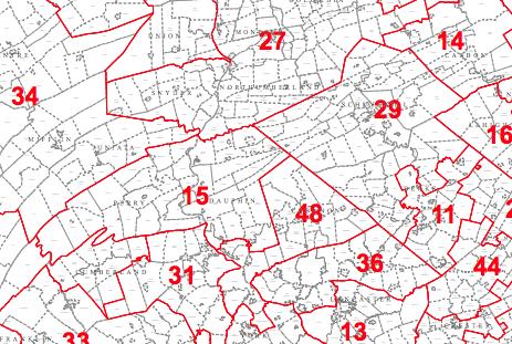 A portion of the Pennsylvania legislative district map. (Commonwealth of Pennsylvania)