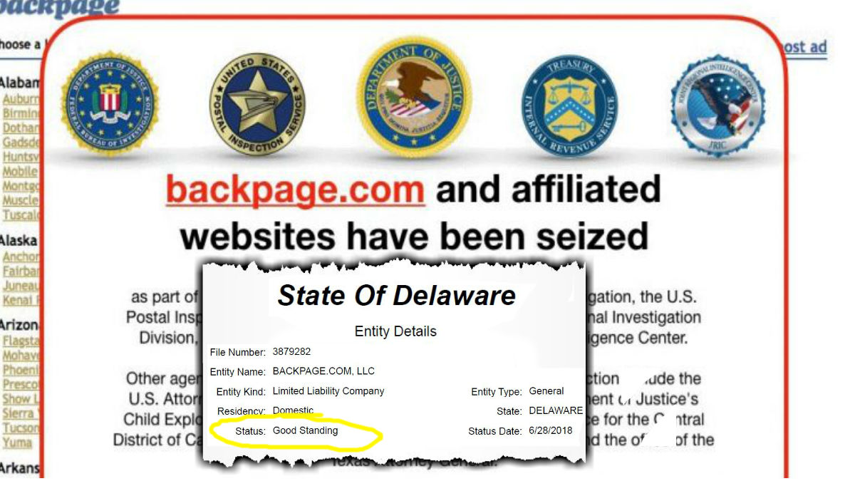 Delaware Attorney General Will Seek To Dissolve Backpage