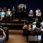 Pennsylvania Attorney General Josh Shapiro speaks during a news conference at the Pennsylvania Capitol on Tuesday. A Pennsylvania grand jury says its investigation of clergy sexual abuse identified more than 1,000 child victims in records in six Roman Catholic dioceses. Matt Rourke/AP