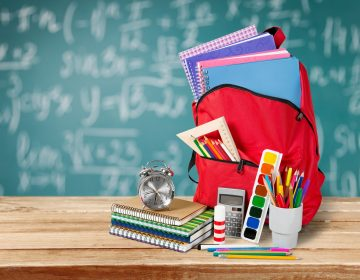 Back school backpack and supplies. (Photo Courtesy/BigStock)