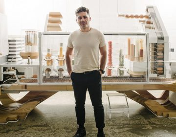 Alex Vardakostas had a dream about creating a robot burger-maker in college. He's now poised to open a restaurant with his Creator Burger robot in September. (Saroyan Humphrey)