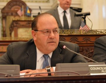 Philadelphia City Councilman Alan Domb says he's not convinced the city will break even after selling the West Philly location and the Center City spot where police headquarters is now.  (Tom MacDonald/WHYY)