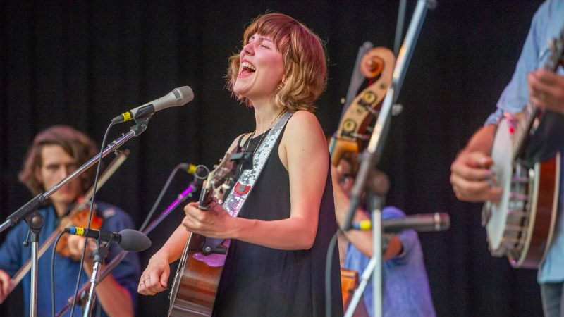 Molly Tuttle and her band performed for the Saturday evening concert. (Jonathan Wilson for WHYY)