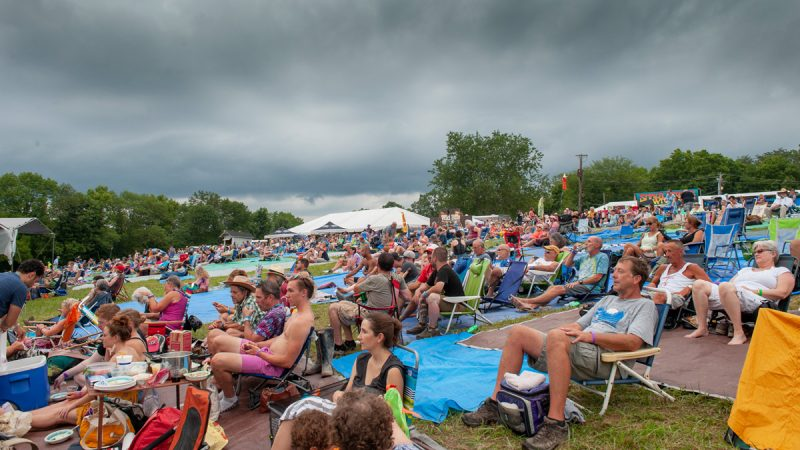 Threatening skies and rain greeted concert goers throughout the weekend. (Jonathan Wilson for WHYY)