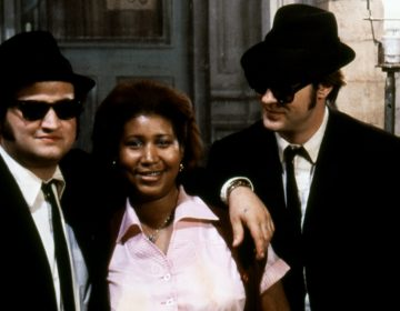 Aretha Franklin was in her element with comedians John Belushi and Dan Aykroyd on the set of The Blues Brothers. (Sunset Boulevard/Corbis via Getty Images)