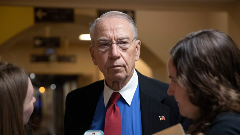 """In this May 24, 2018, file photo, Senate Judiciary Committee Chairman Chuck Grassley, R-Iowa, speaks to reporters on Capitol Hill in Washington. The Republican chairman and top Democrat on the Senate Judiciary Committee want federal investigators to examine charges that immigrants have suffered sexual, physical and emotional abuse at two government agencies' detention centers. Grassley of Iowa and California's Dianne Feinstein have written to the inspectors general of the departments of Homeland Security, and Health and Human Services, that the allegations are """"extremely disturbing and must be addressed. This is not a partisan issue. (AP Photo/J. Scott Applewhite, File)"""