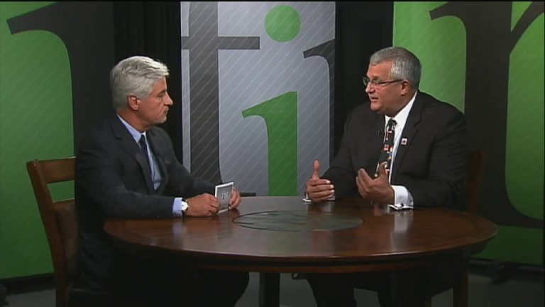 Merv Daugherty (right), outgoing superintendent of Red Clay Consolidated School District, was recently interviewed on WHYY's