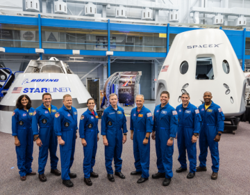 NASA has named nine astronauts to crew the first test flights and missions of Boeing's CST-100 Starliner and SpaceX's Crew Dragon capsule. (From left) Sunita Williams, Josh Cassada, Eric Boe, Nicole Mann, Christopher Ferguson, Douglas Hurley, Robert Behnken, Michael Hopkins and Victor Glover. (NASA)