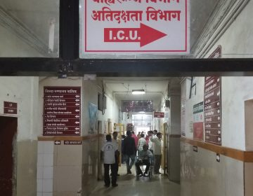 The Nashik Civil District Hospital is a government facility about 100 miles outside Mumbai. The director, Dr. Suresh Jagdale, acknowledges that the mortality rate is higher than that of private hospitals, but he says he's proud to offer free health treatment to India's poor. (Lauren Frayer/NPR)