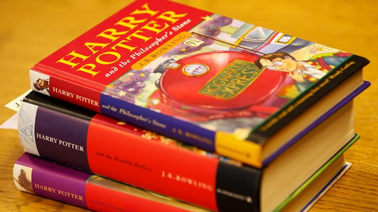 Books in the Harry Potter series. (AP Photo/Sang Tan)