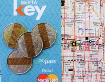 A SEPTA Key Card, and a map of the transit system it was designed for. (PlanPhilly, file)
