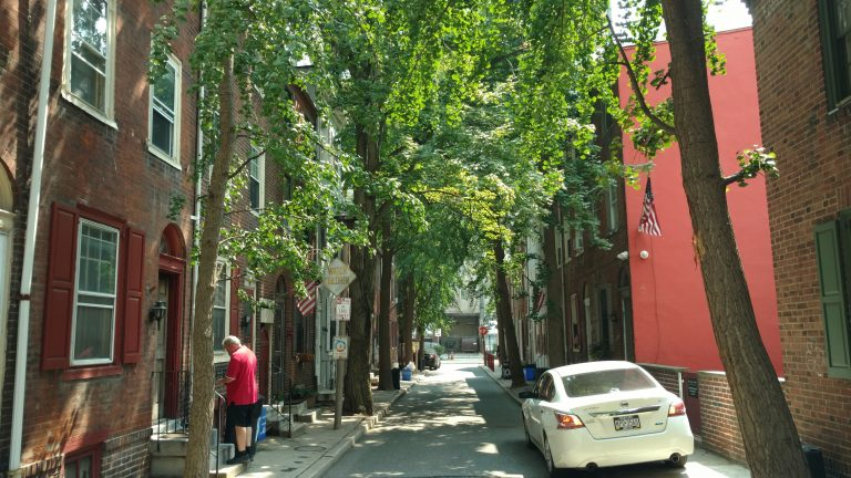 The 100 block of Mole Street — in Center City. (Jake Blumgart/PlanPhilly)