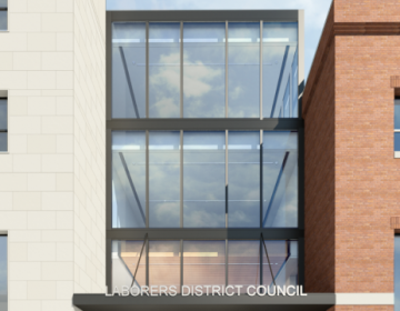A rendering of the Laborers' District Council Education and Training Center proposed for 1333 North Broad St. (Camille Peluso Architects LLC)