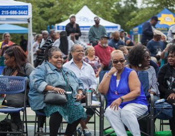 Residents gather to join in the festivities at the 12th Annual Strawberry Mansion Day in North Philadelphia on September 9th 2018. (Emily Cohen for WHYY)