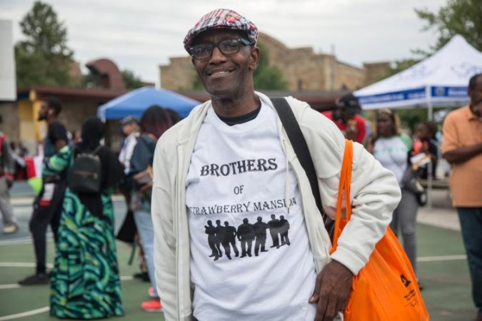 Azaim Mohammad is a lifetime resident of the Strawberry Mansion neighborhood. He is the president of Brothers of Strawberry Mansion. (Emily Cohen for WHYY)