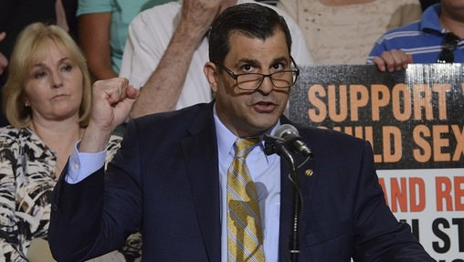 Pennsylvania state Rep. Mark Rozzi, D-Berks,  says creating compensation funds is a step in the right direction, but retroactive lawsuits should be an option too. (Marc Levy/AP Photo)