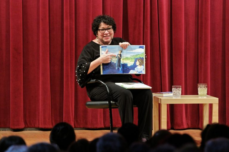 U.S. Supreme Court Justice Sonia Sotomayor talks about a passage from her children's book,