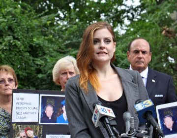 Gymnast Jessica Howard, who was sexually abused by USA Gymnastics team doctor Larry Nassar, speaks on behalf of the victims of Catholic priests, urging Pennsylvania to adopt a law that would suspend the statute of limitations in claims of child sexual abuse. (Emma Lee/WHYY)
