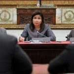 Philadelphia City Councilwoman Maria Quinones Sanchez hears testimony on her bill, which would authorize the city to issuye municipal identification cards.