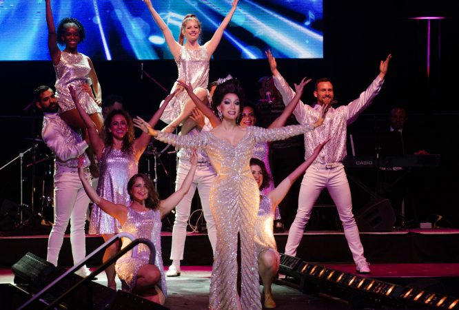 2018 Miss'D America,  Ms. Pattaya Hart, performs during the Miss'd America Pageant held at the Borgata in Atlantic City. (Anthony Smedile for WHYY)