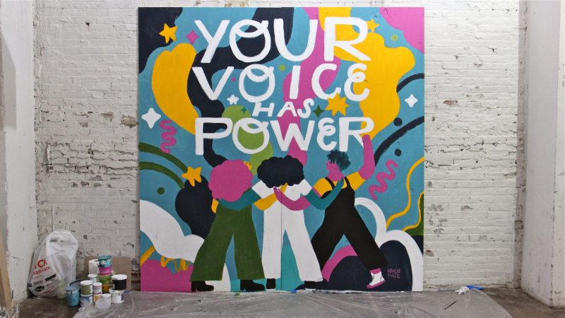 Illustrator and designer Loveis Wise created her first mural,