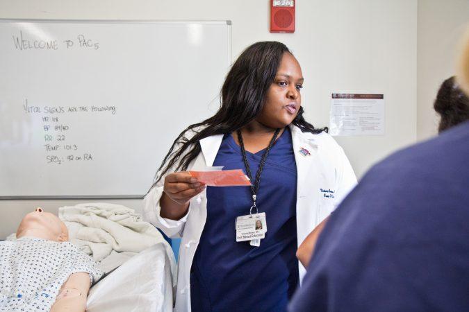Vanessa Brown, a registered nurse at Penn, ponders a