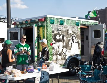 Eagles fan tailgate the first game of the 2019 season