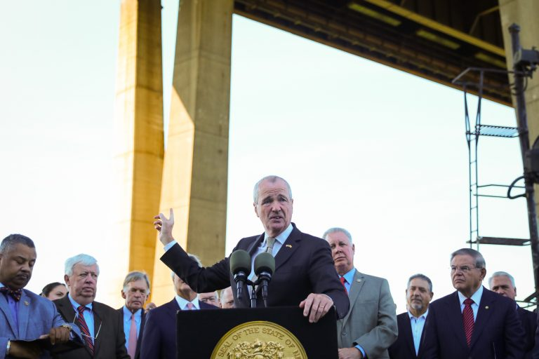 Governor Phil Murphy holds a press conference on the Gateway Project in Secaucus on September 4, 2018. Edwin J. Torres/NJ Governor's Office.