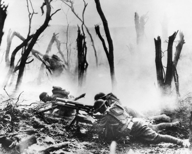 On the first day of the Meuse-Argonne Allied offensive in France, a U.S .Army 37-mm gun crew man their position. (AP file photo)