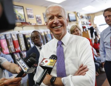 FILE - In this June 29, 2018, file photo, former Vice President Joe Biden speaks to the media in Cincinnati. Dick Harpootlian, a longtime fixture in South Carolina's Democratic political circles announced Wednesday, Aug. 1, that he's getting a campaign boost from one of the party's top dogs. In an email to supporters, Harpootlian said that he is being supported by Biden in his special election quest for a state Senate seat in the Columbia area. (AP Photo/John Minchillo, File)