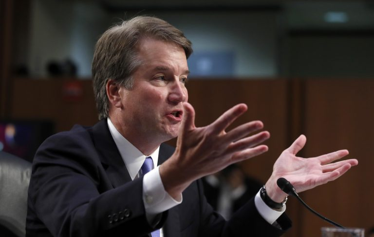 President Donald Trump's Supreme Court nominee, Brett Kavanaugh testifies before the Senate Judiciary Committee on Capitol Hill in Washington, Thursday, Sept. 6, 2018, for the third day of his confirmation hearing to replace retired Justice Anthony Kennedy. (Alex Brandon/AP Photo)