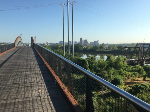 The Markell trail heads north toward the city of Wilmington. (Mark Eichmann/WHYY)