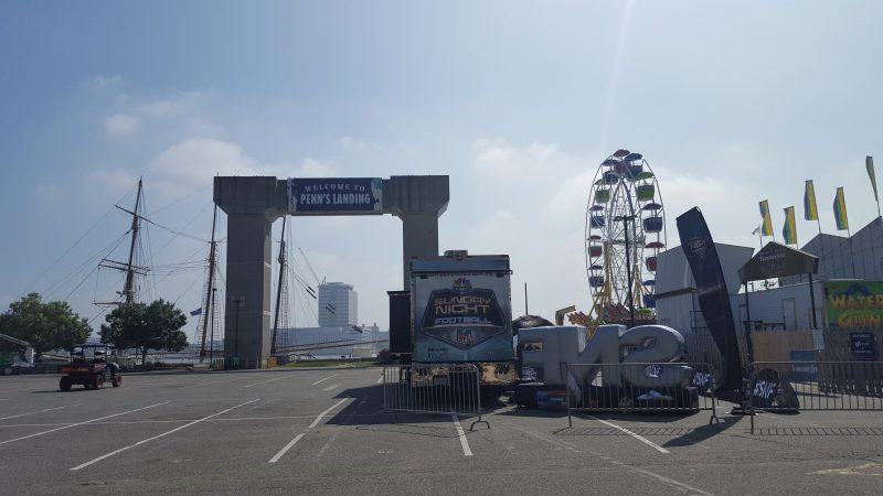 The NFL Kickoff Experience will take place Thursday at Penn's Landing. (Sara Hoover for WHYY)