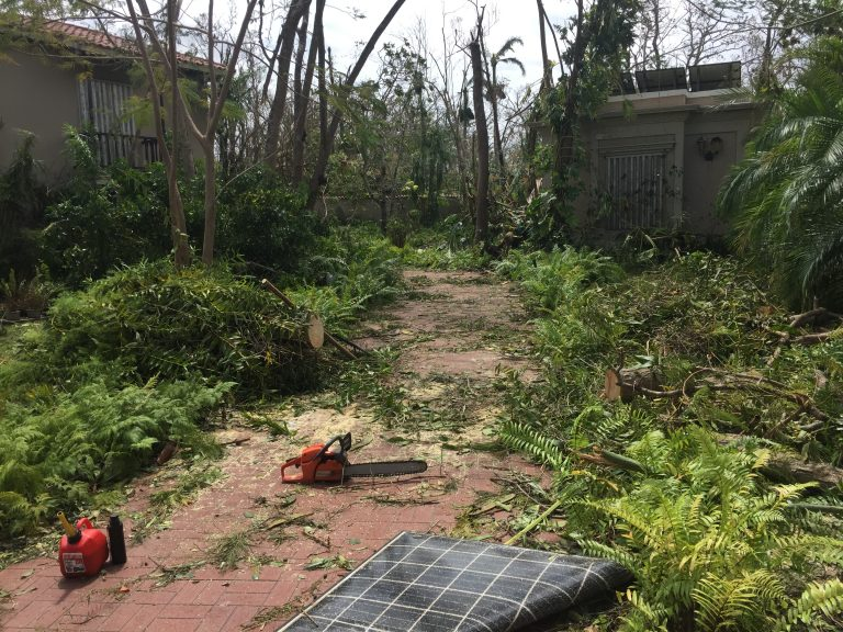 In the days after the hurricane, Mariana Ortiz-Blanes documented the devastation around her family home. She took photos and short videos — then sent them to her daughter in Philadelphia — as Hurricane Maria swept across Puerto Rico. Photo Credit: Mariana Ortiz-Blanes