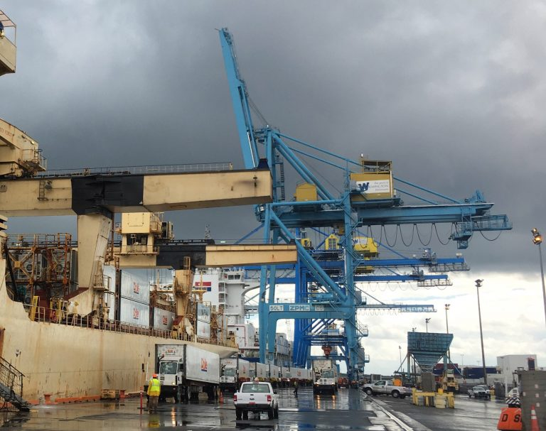 Delaware signed a deal to lease the Port of Wilmington to UAE-based Gulftainer Tuesday, Sept. 18. (Mark Eichmann/WHYY)