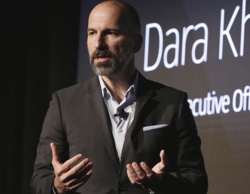 Uber announced its settlement with 50 U.S. states and the District of Columbia, paying a penalty and promising to make its data security more robust. Here, Uber CEO Dara Khosrowshahi is seen at an event in New York earlier this month. (Richard Drew/AP)