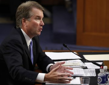 President Trump's Supreme Court nominee, Judge Brett Kavanaugh, testifies during his is Senate Judiciary committee confirmation hearing on Sept. 6. (Jacquelyn Martin/AP)