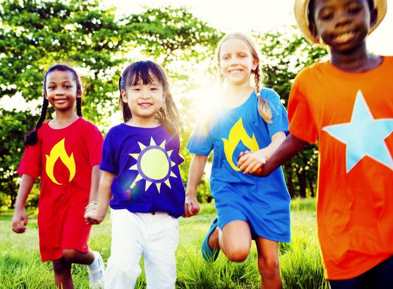 Variation Children Kids Friendship Cheerful Concept
