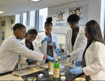 Students participate in a CVS Pharmacy technician apprenticeship program at Philadelphia Job Corps. The program is supported by federal training dollars (Courtesy of Philadelphia Works)
