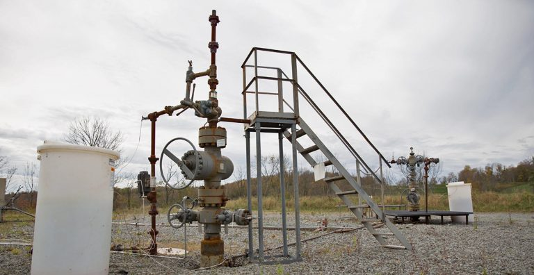 Natural gas wells in Springville Township, Pa. (Lindsay Lazarski/WHYY)