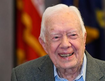 In this April 11, 2018 file photo, former President Jimmy Carter, 93, sits for an interview before a book signing in Atlanta. (AP Photo/John Amis, File)