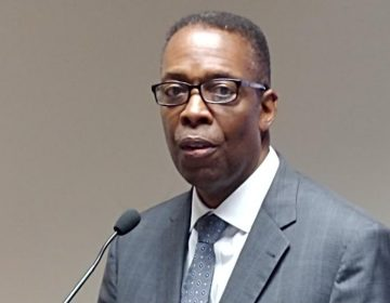 Council President Darrell Clarke says people need to get mad about violence to fight it properly (Tom MacDonald/WHYY)