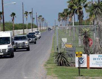 Vehicles leave the Port Isabel Detention Center, which holds detainees of the U.S. Immigration and Customs Enforcement in Los Fresnos, Texas. (AP Photo/David J. Phillip, file)