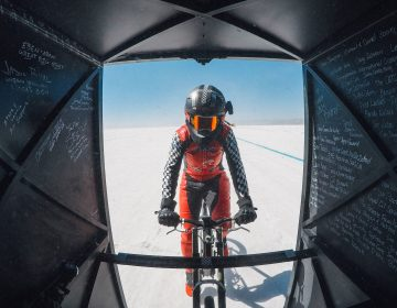 Denise Mueller-Korenek rode a custom bike at an average of 183.932 miles per hour – shattering a world record that had stood since 1995. (Matt Ben Stone/Action Plus via Getty Images)