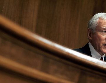 Sen. Orrin Hatch, photographed during a Senate hearing on music licensing reform on July 12, 2005. Hatch — a songwriter with both a platinum and gold record for his efforts — had his name added to the title of the Music Modernization Act, which passed the Senate unanimously on Sep. 18, 2018. (Chip Somodevilla/Getty Images)